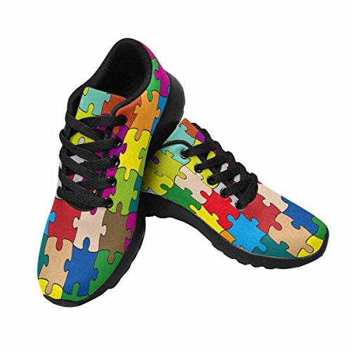 Scarpe Da Corsa Trail Running Donna Jogging Leggero Sneakers Sportive Da Passeggio Sportive 64 Pezzi Puzzle Multi 1