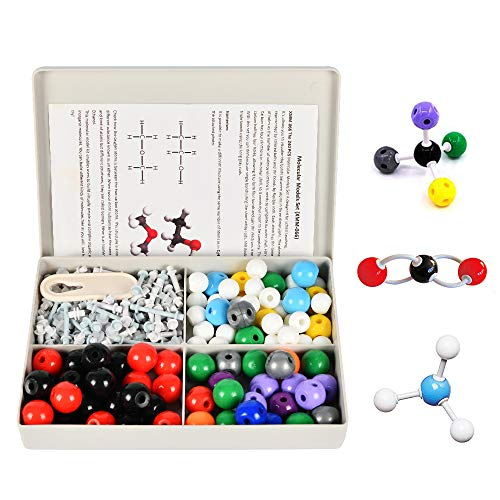 Yuntec Organic Chemistry Model Kit (239 Pieces), Molecular Model Kit Chemistry Set Model Kits Pack Atom Models for Teacher, Students & Scientist and Chemistry Class with Atom Kits, Bonds, Remover