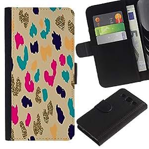 APlus Cases // Samsung Galaxy S3 III I9300 // Trullo oro leopardo animal modelo guepardo // Cuero PU Delgado caso Billetera cubierta Shell Armor Funda Case Cover Wallet Credit Card