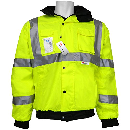 Global GLO-EB1 FrogWear Polyurethane Class3 3M Scotchlite Reflective (Glo Fleece Gloves)