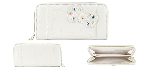 62169be6b Image Unavailable. Image not available for. Color: Hello Kitty Embossed  faux leather Long wallet ...