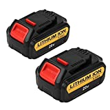 Eagglew 5000mAh Replacement for Dewalt 20V Max XR Battery Lithium Ion DCB205 DCB200 DCB201 DCB203 DCB204 DCB206 DCB207 High Capacity Cordless Power Tools (2Packs)