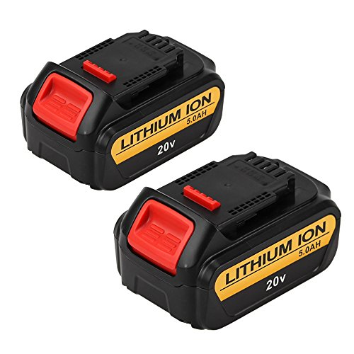Eagglew 5000mAh Replacement for Dewalt 20V Max XR Battery Lithium Ion DCB205 DCB200 DCB201 DCB203 DCB204 DCB206 DCB207 High Capacity Cordless Power Tools (2Packs) by Eagglew