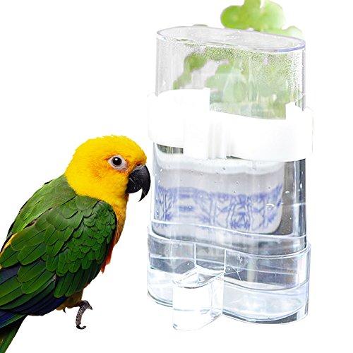 Wuudi automatico mangime per uccelli mangiatoia Bird Feeding cibo e acqua di erogazione acqua dispenser per pappagallo