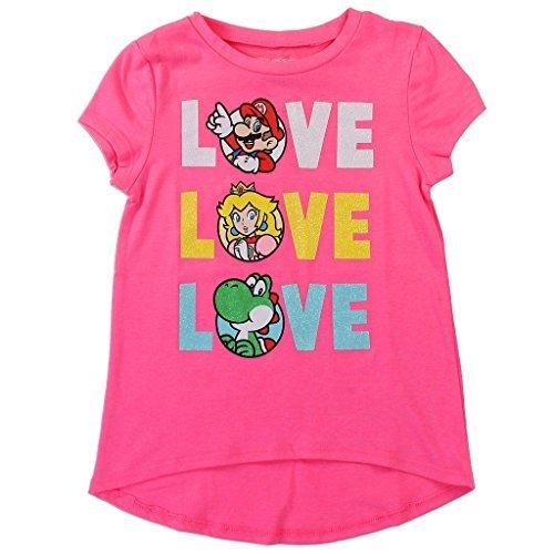 Nintendo Girls' Mario, Yoshi, and Princess Peach Tee -