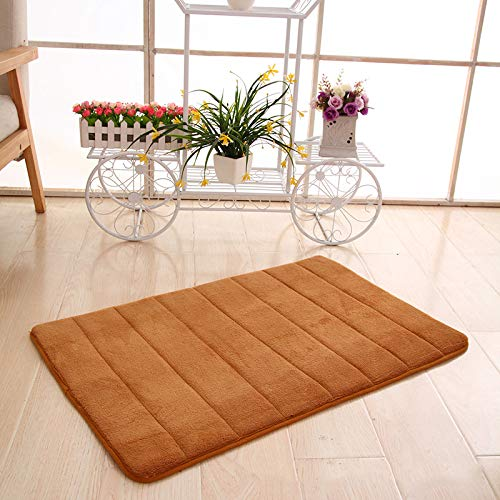 - dongzhifeng Rug Rugs Welcome Mat Door Matt Indoor Matt Outdoor Coral Velvet Memory Mat Multicolor Living Room Carpet Foam Anti-Slip Vertical Stripe Mat 40 60cm Khaki