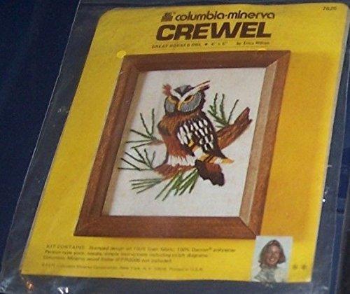 Great Horned Owl - Columbia-Minerva Crewel Kit 7625 ()