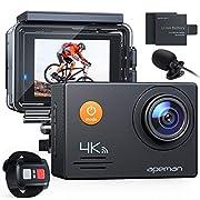 APEMAN Action Cam A79,4K WiFi 20MP Unterwasserkamera Digitale wasserdichte 40M Helmkamera (2.4G Fernbedienung und Webcam…