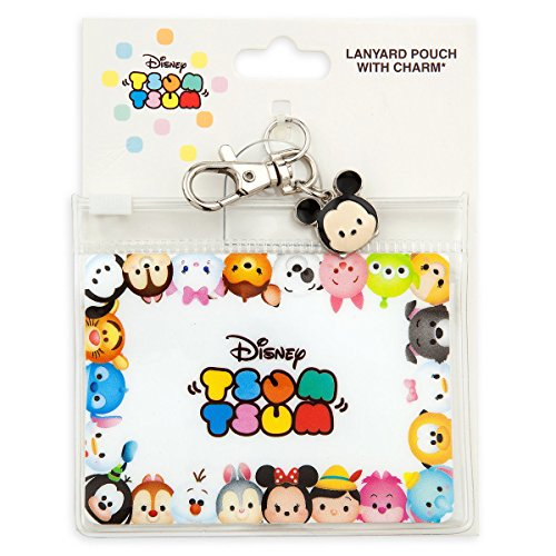 Disney Pin Accessory -Stacked Characters - Lanyard Pouch with Charm