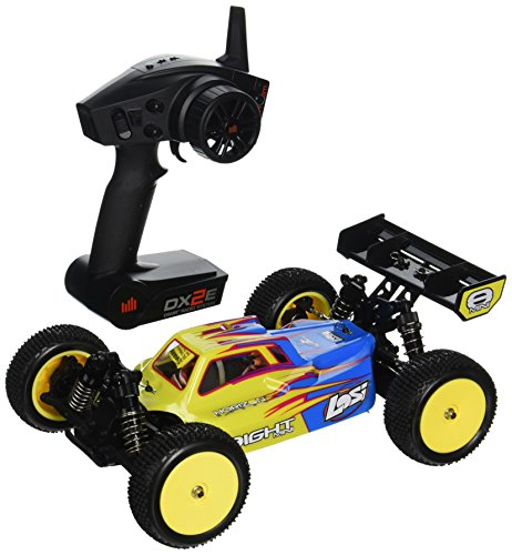 Team Losi Mini 8IGHT RTR AVC 4WD Buggy Vehicle (1/14 Scale), Blue