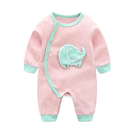 Bebé Mono Mameluco - Pelele Bebé Pijamas Algodón Mameluco Mono Manga Larga Body