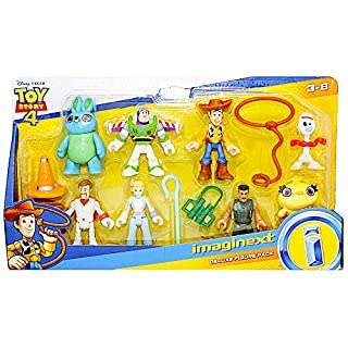 "Imaginext Toy Story Deluxe Figure Pack of 8 Figures 2.5"" with Forky"