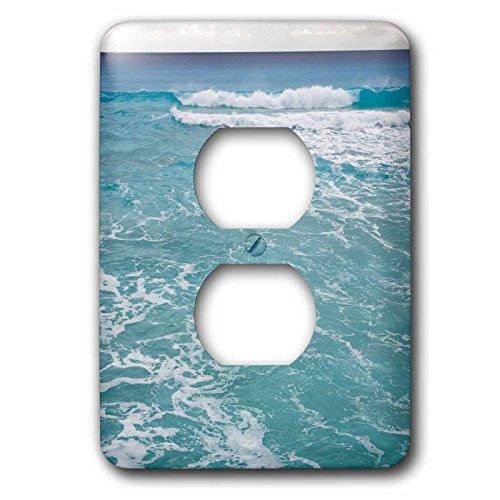 3dRose lsp_86756_6  Mexico, Quintana Roo, Cancun, Caribbean Sea Sa13 Rbi0057 Randa Bishop 2 Plug Outlet Cover (Light Plate Blue Cancun)