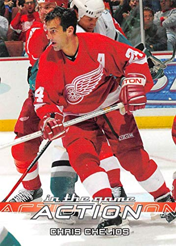 (2003-04 In The Game Action Hockey #217 Chris Chelios Detroit Red Wings)