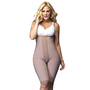 d861ed04d61b9 Fajas DPrada 11047 Womens Powernet Hook   Eye Body Shaper at Amazon Women s  Clothing store