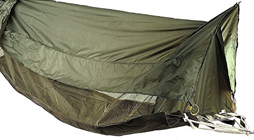 Military Style Jungle Hammock Od Camping Easy Setup Elevated Shelter w/ Roof