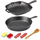Cast Iron Skillet - Kitchen Cookware Set 10.25