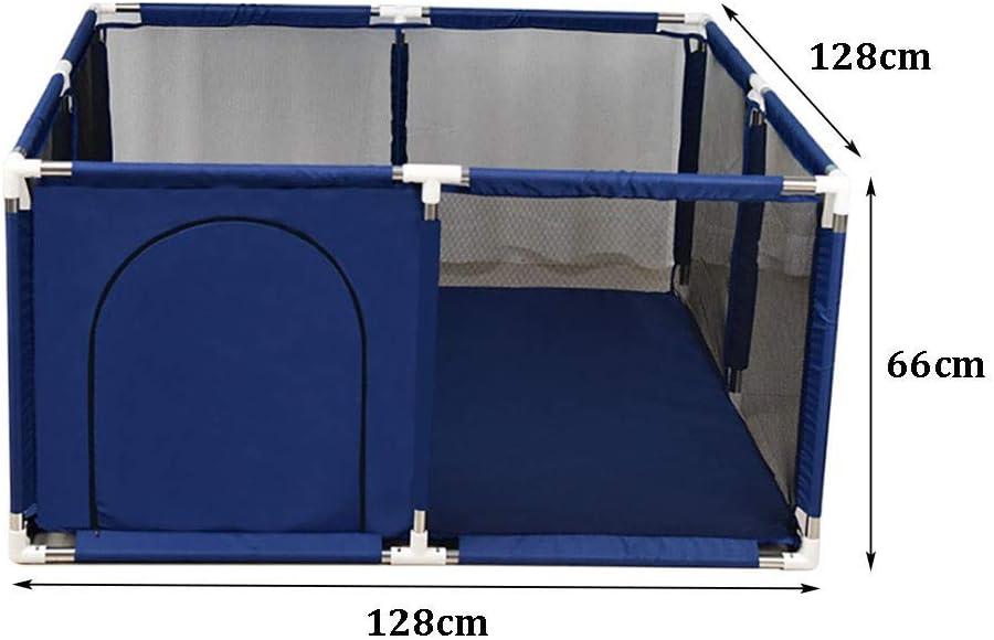 Taille: 128x128x66cm 66 cm de Hauteur 2 Tailles XHJYWL Parc de b/éb/é portatif pour Enfants avec Centre dactivit/és de Couleur Bleue pour Enfants