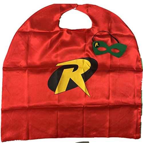 [Starkma Kids Girl And Boy Robin Superhero Cape + mask Costume B07] (Kids Batman And Robin Costumes)