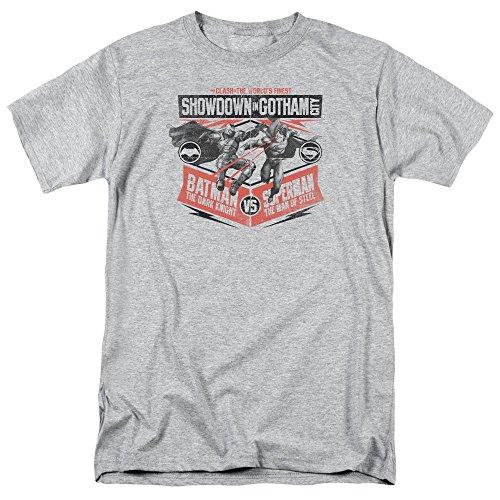Trevco Men's Batman V Superman Showdown in Gotham Adult T-Shirt at Gotham City Store