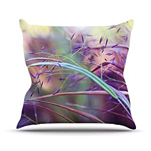 """Kess InHouse Sylvia Cook """"Pretty Grasses"""" Outdoor Throw Pillow, 20 by 20-Inch"""