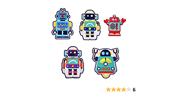 decoration,clothing crafts iron-on Robot cute on cards patch applique