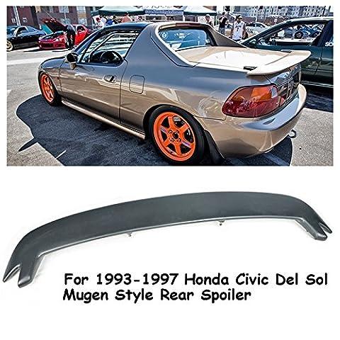 VXMOTOR Mugen Style Rear Wing Spoiler Lip Kit For 1993-1997 Honda Civic Del Sol 2Dr Coupe EG2 EG1 - Honda Civic 2dr Carbon