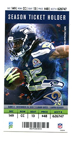 2013 Seattle Seahawks v St. Louis Rams Ticket Super Bowl Champs 17068