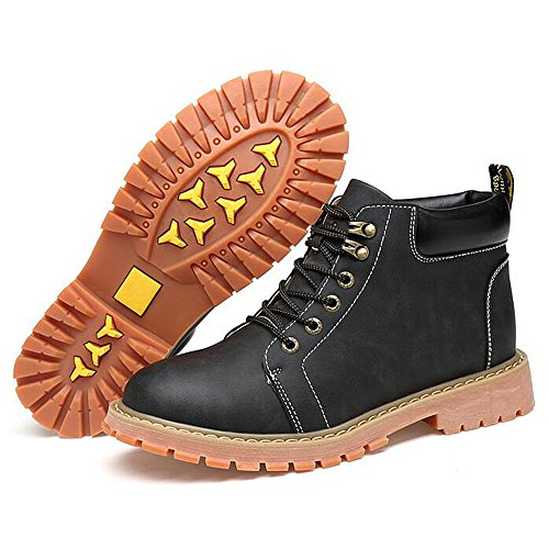 Herren freizeitschuhe kleid bergsteigen herbst outdoor [leise unten] stiefel rutschen schwarzbraun-A Fußlänge=42EU