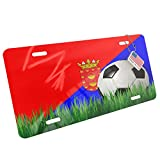 Metal License Plate Soccer Team Flag Lanzarote region Spain - Neonblond