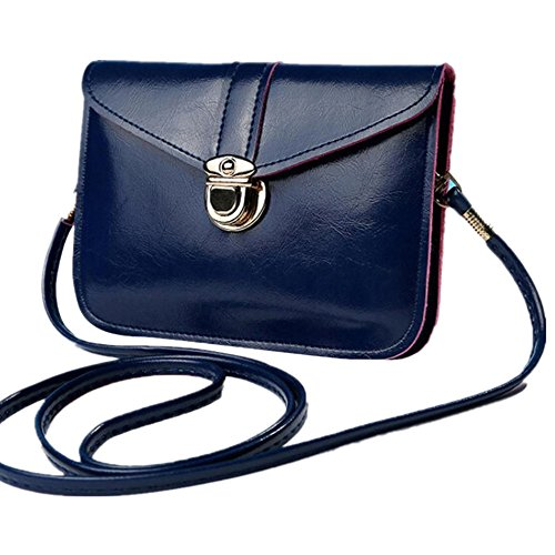Handbag Zero Purse Bag Bag Dark Leather Shoulder Vibola Blue Phone Messenger Fashion Single xXZwqC5TC