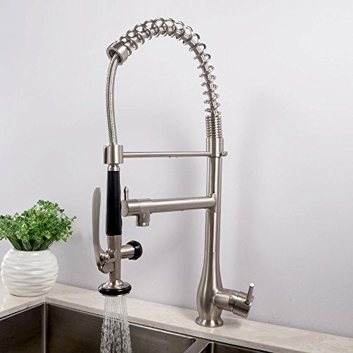 Industrial Style Kitchen Faucet: LORDEAR SLC16010 Single Handle Pull Down Spray Kitchen