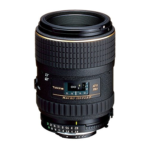 Tokina AT-X 100mm f/2.8 PRO D Macro Lens for Nikon Auto Focus Digital and Film Cameras