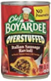 Chef Boyardee Big Overstuffed Italian Sausage Ravioli, 15-Ounce Cans (Pack of 12)