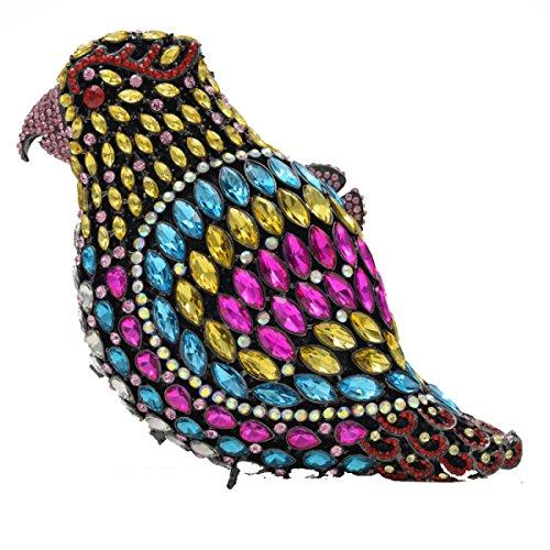 Haut A Gamme Sacs Soirée Diamant Embrayage PU De Luxe Sac De Cuir Chaîne à Main Sac Pleine Mode Oiseau fPqqZwUFO