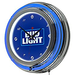 Trademark Gameroom AB1400-BL-16 Bud Light 14 Neon Wall Clock - Block Text