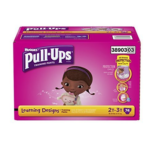 Pull-Ups Training Pants with Learning Designs for Girls, 2T-3T, 74 Count (Packaging May Vary) by Pull-Ups