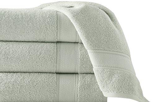 Grund 100% GOTS Certified Organic Turkish Cotton Towels, Pinehurst Collection, 36-Inch by 72-Inch, Sage, 1 piece