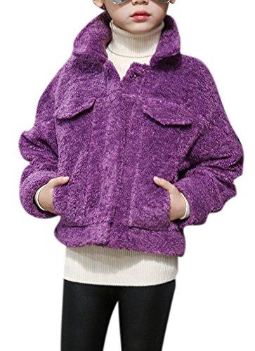 Girls Faux Shearling Coats - 3