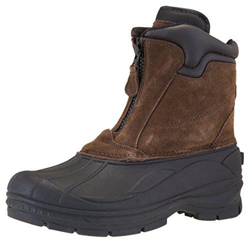 Khombu Men's Grip Waterproof Winter Front Zip Snow Boot (11.5 D(M) US, ()