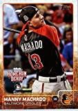 2015 Topps Update #US202 Manny Machado Baseball Card in Protective Display Case