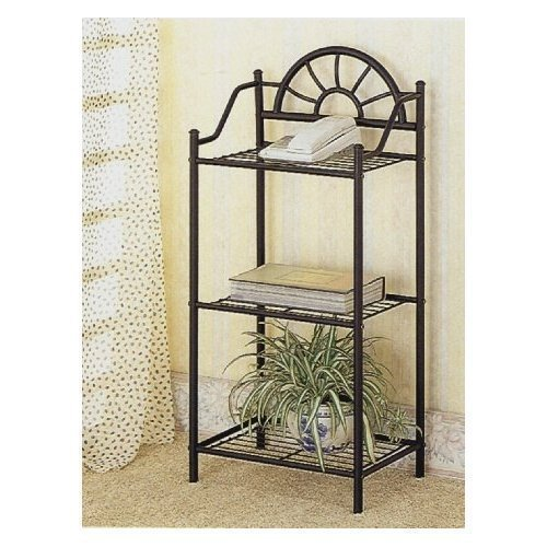 # 2429 3-Tier Traditional Sunburst Design Telephone Table Stand With Shelves In Sand... by Coaster Home Furnishings by Coaster Home Furnishings
