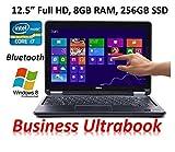 "Dell Latitude E7240 Business Ultrabook PC, 12.5"" Full HD IPS Touchscreen, Intel Core i7-4600U, 8GB RAM, 256GB SSD, Backlit Keyboard, Bluetooth, Windows 8 Professional (Certified Refurbished)"