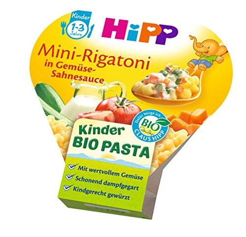 HiPP Kinder-Bio-Pasta Mini-Rigatoni in Gemüse-Sahnesauce, 6er Pack (6 x 250 g) 8638-01