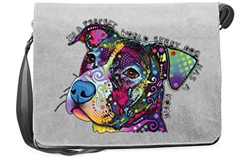 Pop Art Canvas ::: In a Perfect World ::: peppige Umhängtasche mit Art Style Hunde Motiv