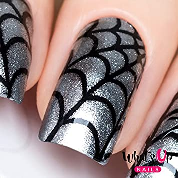 Amazon Whats Up Nails Spider Web Vinyl Stencils For