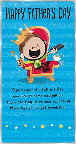 Tarjeta para el día del padre con texto en inglés Dad King ...