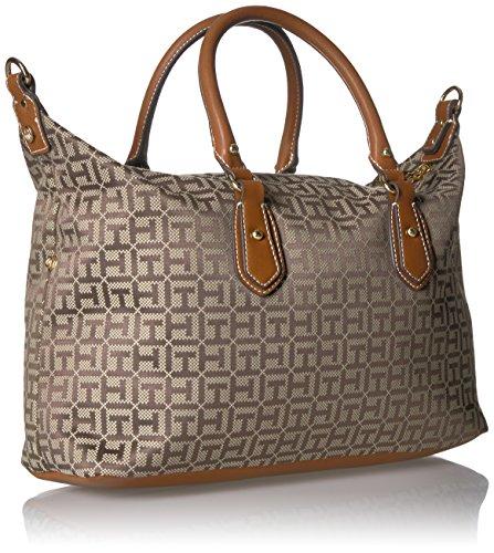 Satchel Dark Chocolate Jaden Tommy Handbag Hilfiger Tan wtSXqAPq