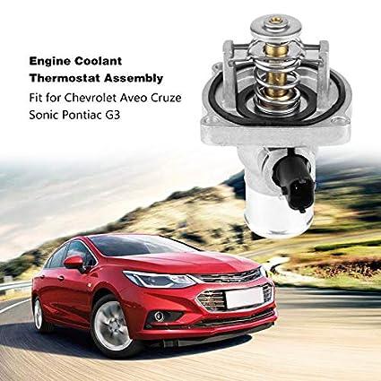 For Chevrolet Cruze Pontiac G3 Coolant Thermostat Assembly w// Housing 96984104