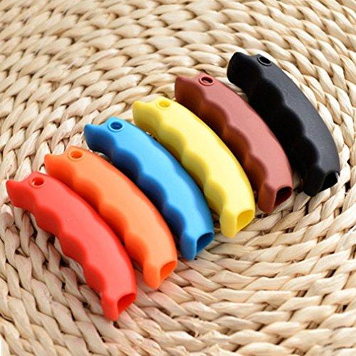 mains plastique transport de vaisselle Bleu des portable Soins Hanging silicone Sac commercial Poign¨¦e Sac TiooDre On en vaisselle Porte UYzEZYn